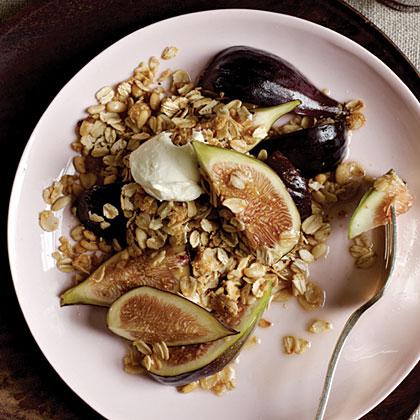 Drunken Figs with Black Pepper Granola Recipe