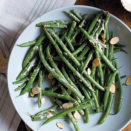 Green Bean Salad with Mustard Crema