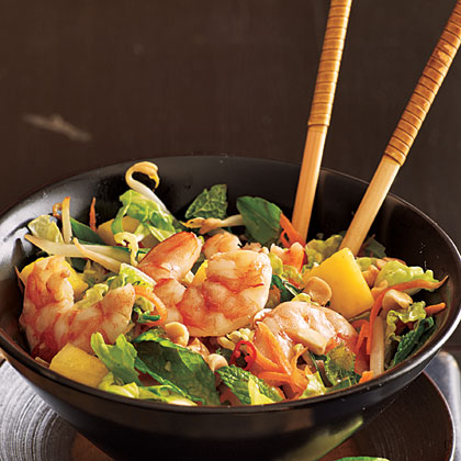 Lime Shrimp Salad with Bean Sprouts and Thai Basil Recipe