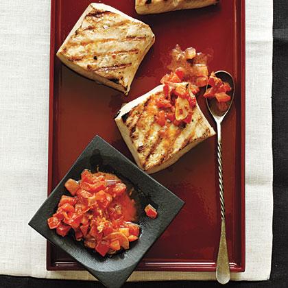 Mahimahi with Bacon-Tomato Butter