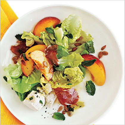 Prosciutto, Peach, and Sweet Lettuce Salad Recipe