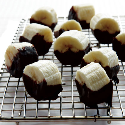 Chocolate Dipped Banana Bites Recipe Myrecipes
