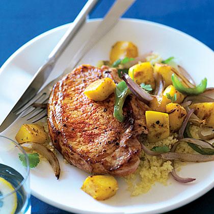Mango and Paprika Pork Chops Recipe | MyRecipes