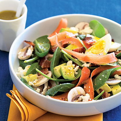 Spinach Salad with Bacon and EggsRecipe