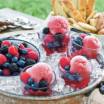 Blackberry Wine Sorbet