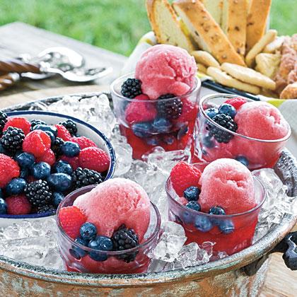 Blackberry Wine Sorbet Recipe