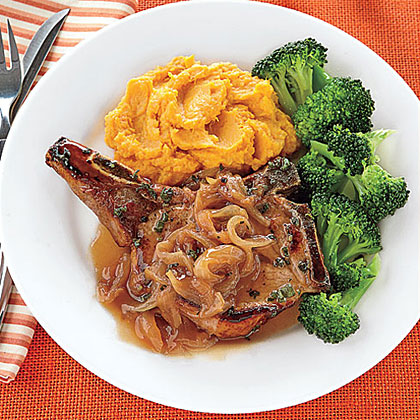 Pork Chops with Cider Sauce Recipe