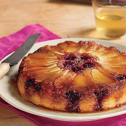Blackberry-Apple Upside-Down Cake