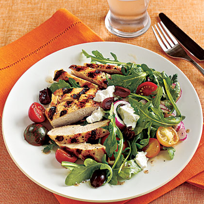 <p>Grilled Chicken and Tomato Salad</p>