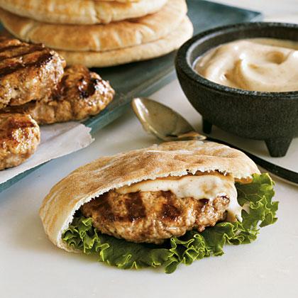 Lamb and Turkey Pita BurgersRecipe