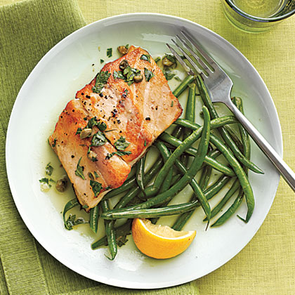 Sautéed Striped Bass with Lemon-Caper Sauce Recipe