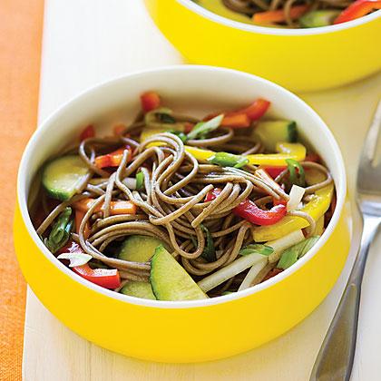 Cold Soba Salad with Crisp Vegetables Recipe | MyRecipes.com