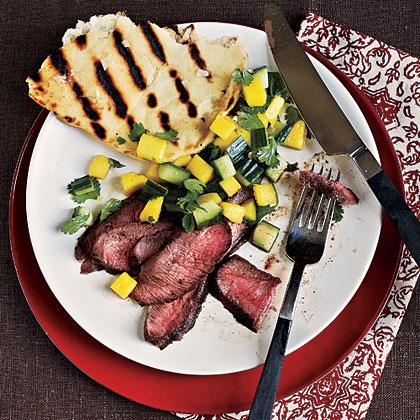 Grilled Steak with Fresh Mango Salsa