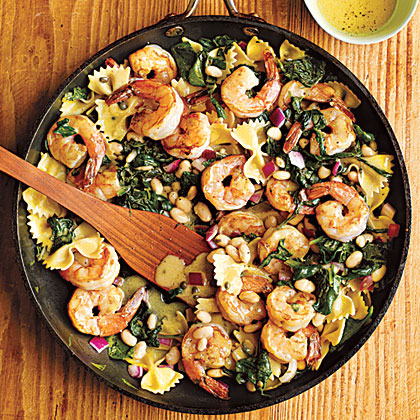 Warm Pasta Salad with Shrimp Recipe | MyRecipes