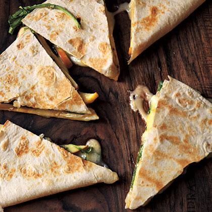 Brie, Apple, and Arugula Quesadillas Recipe