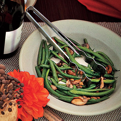 Buttered Green Beans and MushroomsRecipe