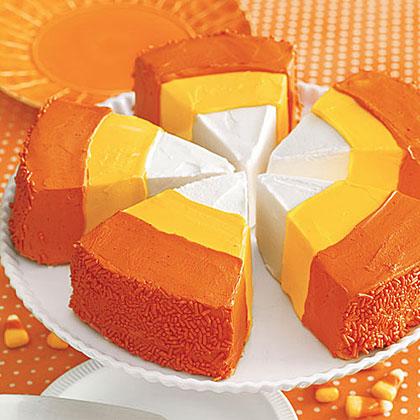 Candy Corn Cake Wedges Recipe