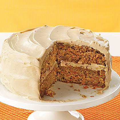 Classic Carrot Layer Cake RecipeThe warm spicy flavor of this cake makes it feel like the perfect slice for fall. Cinnamon, allspice and cloves work well with the sweet cream cheese icing that has an almost caramel-like flavor.