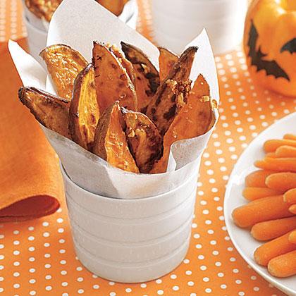 Garlicky Sweet Potatoes