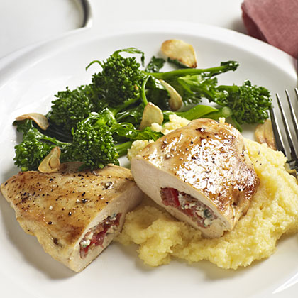 Pork and Gorgonzola-Stuffed Chicken Breasts