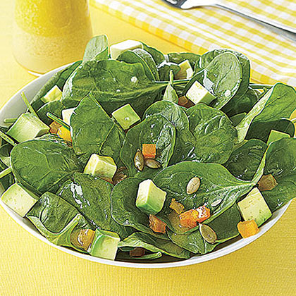 Spinach Salad with Pumpkin Seeds and Avocado Recipe