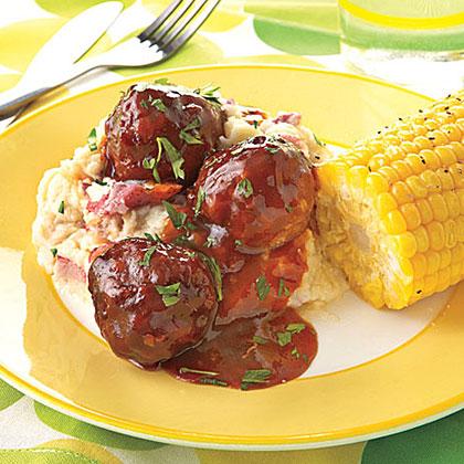 Slow-Cooker BBQ Turkey MeatballsRecipe
