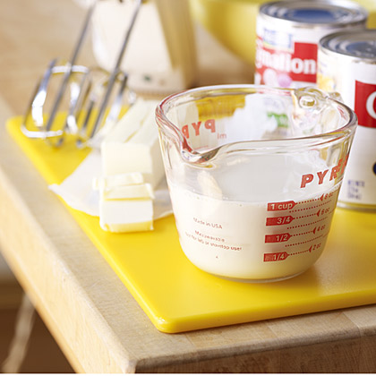 With more than half the water removed, the texture of evaporated milk is a bit thicker and creamier than fresh milk. That's why it's often used to enhance custards, frozen desserts, pie fillings, and rich sauces. If allowed to freeze slightly, evaporated milk can be whipped into a creamy topping.