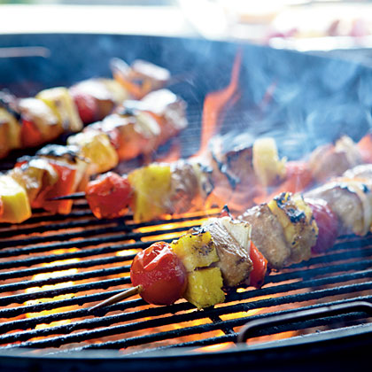 Caribbean Chicken Kebabs with Lime-Cayenne Butter
