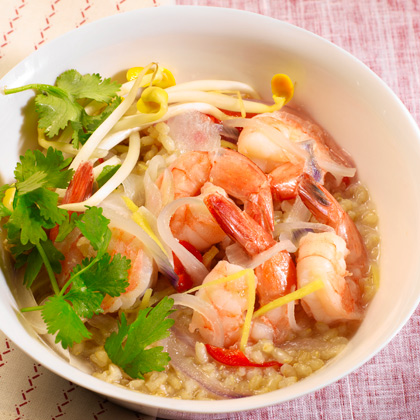 <p>Clay Pot Shrimp with Brown Rice</p>