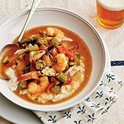 Shrimp-and-Crab Gumbo Over Grits Recipe