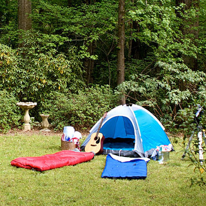 Versatile ThemeStaging a backyard campout party is perfect for everyone and every occasion—a birthday party, neighborhood get-together, or scouting event. It could even be a wedding shower for a couple who loves the great outdoors.