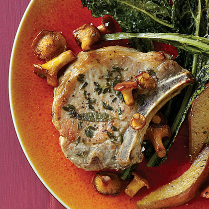 Calvados Pan-Fried Pork Chops
