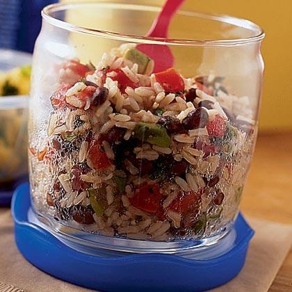 Cuban Beans and Rice Salad