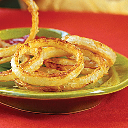 """Beer-battered """"Fried"""" Onion Rings"""
