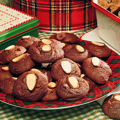 Chocolate-Almond Cookies
