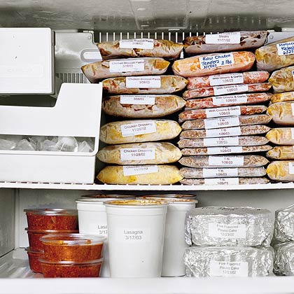 It's easy to save both time and money when you plan ahead. Economical and versatile, try cooking ground beef with onions and garlic, and freeze it to use as a base for other dishes. On cooking day, just heat the base and add other needed ingredients to create quick tacos, sloppy joes, or beef stroganoff. See Easy Freezer Meals for more plan-ahead cooking strategies.