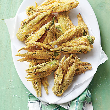 Smashed Fried Okra Recipe