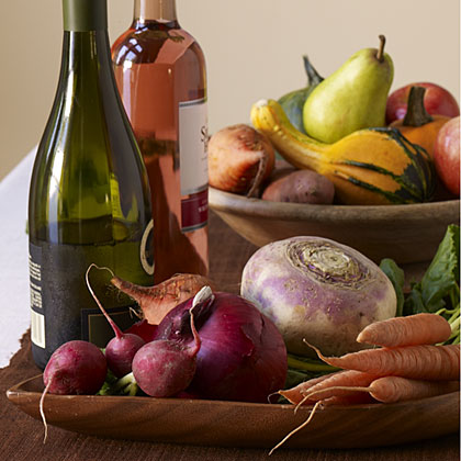 Pairing wine with fall foods.
