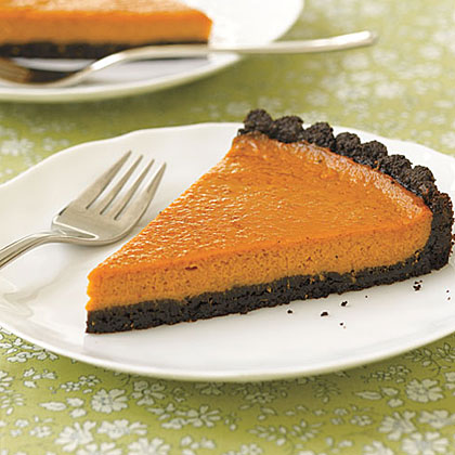 Black-Bottom Pumpkin Tart Recipe | MyRecipes