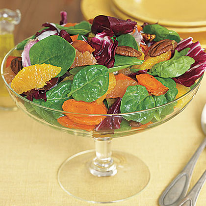 Spinach, Roasted Carrot and Radicchio SaladRecipe