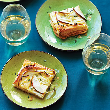 Blue Cheese and Pear Tart