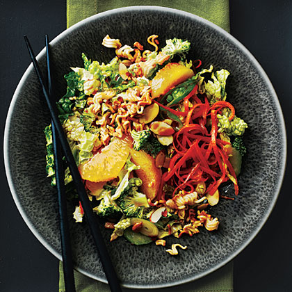 Broccoli Slaw with Oranges and Crunchy Noodles