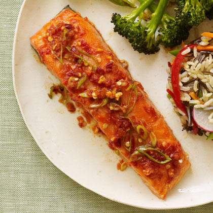 <p>Chili-Glazed Salmon</p>