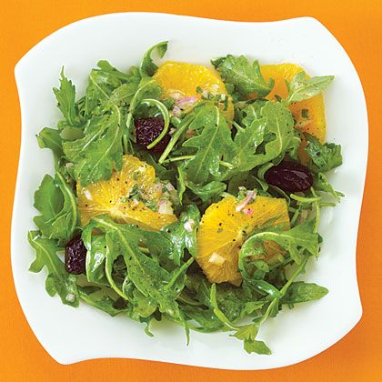 Orange Salad with Arugula and Oil-Cured Olives Recipe