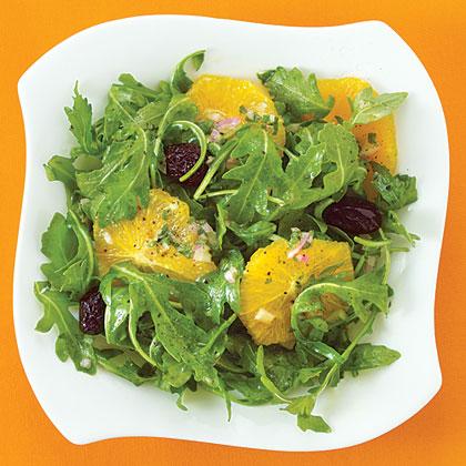 Orange Salad with Arugula and Oil-Cured Olives