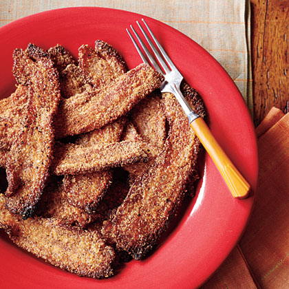 Cornmeal-and-Brown Sugar-Crusted Bacon