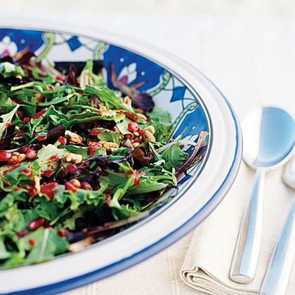 Fall Salad with Nuts and Pomegranates Recipe