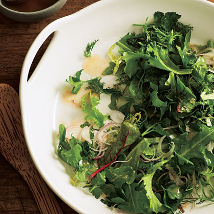 Green Salad with Hazelnut Vinaigrette