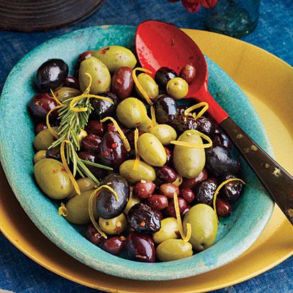 Warm Lemon-Rosemary OlivesRecipe