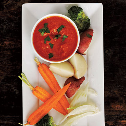 Roasted Red Pepper Bagna Cauda Recipe